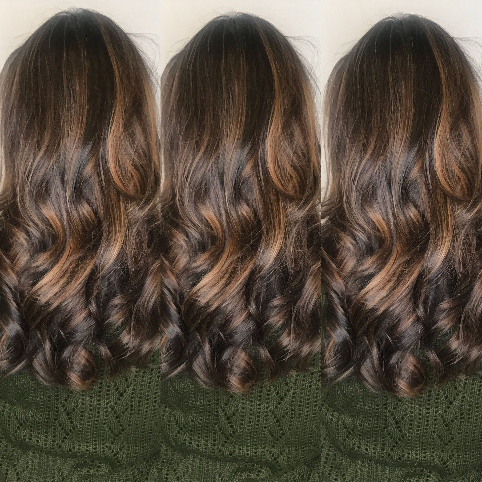 Long Layers Balayage Brunette Natural Warm Carmel Colors Curly Hair Dallas Texas Courtney Littlejohn Colored Curly Hair Curly Hair Styles Hair Styles