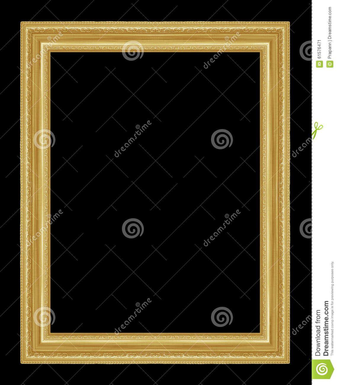 El marco antiguo del oro en el fondo negro | CUADROS - MARCOS ...