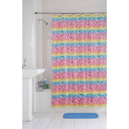 Home Curtains Rainbow Zebra Shower Curtains Walmart