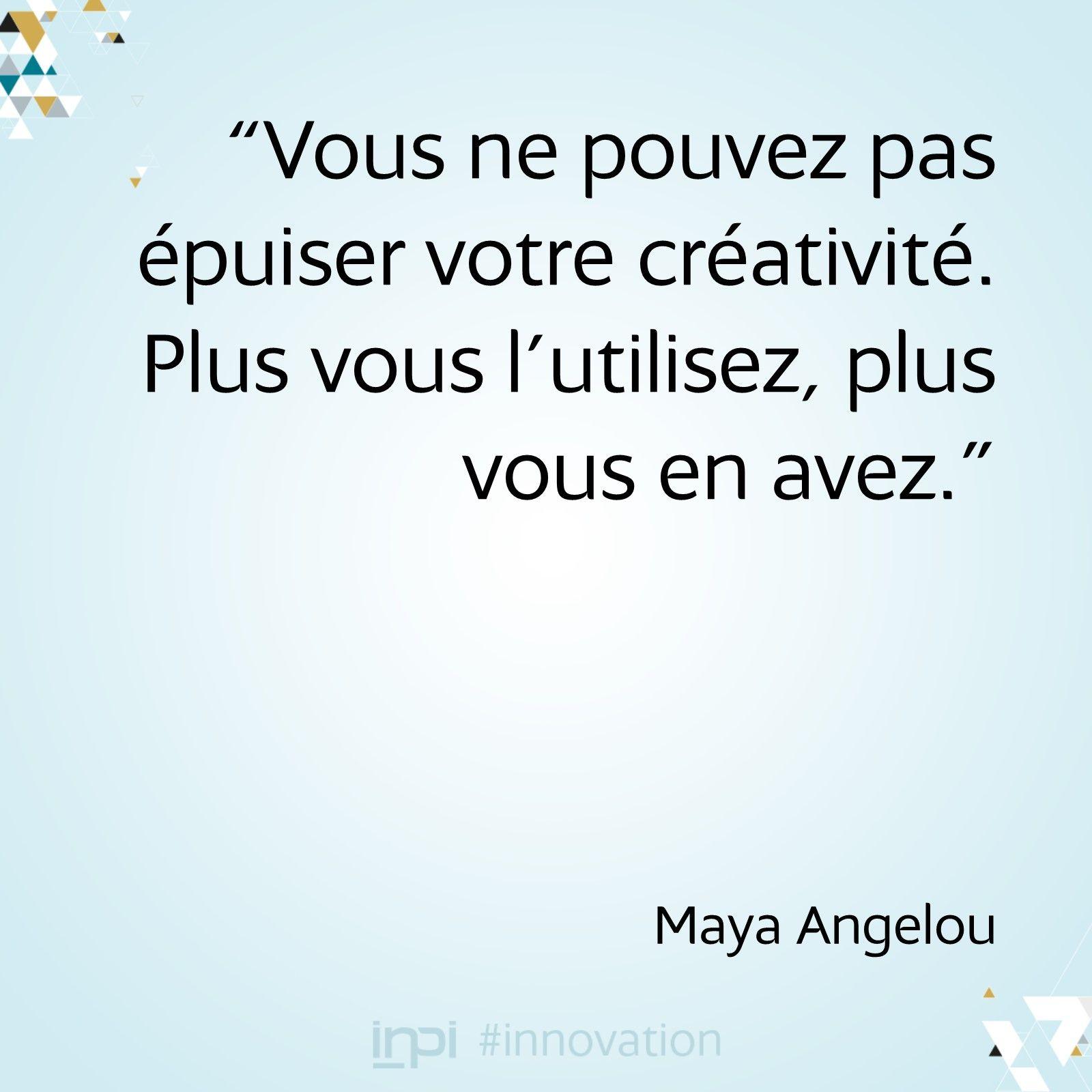 Citation Sur La Creativite Maya Angelou Citation Creativite