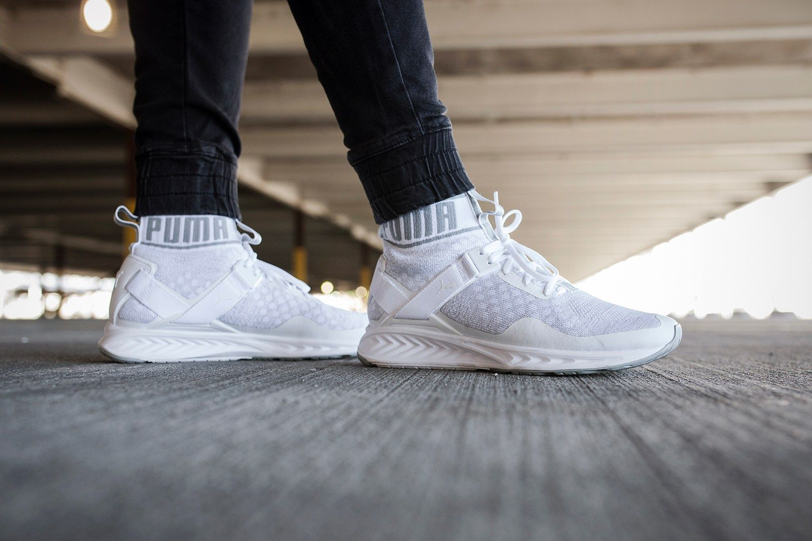 puma ignite all white