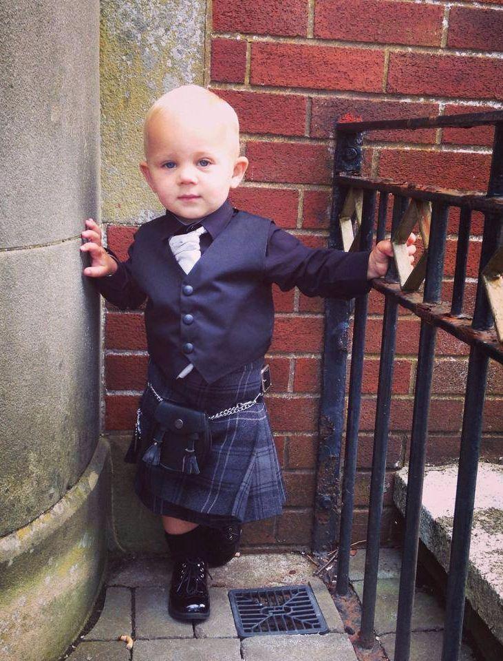 Baby Cooper wearing a Highland Granite kilt outfit.   Kilt ...