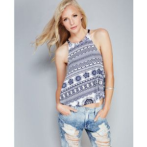 Relaxed Printed Racer Tank