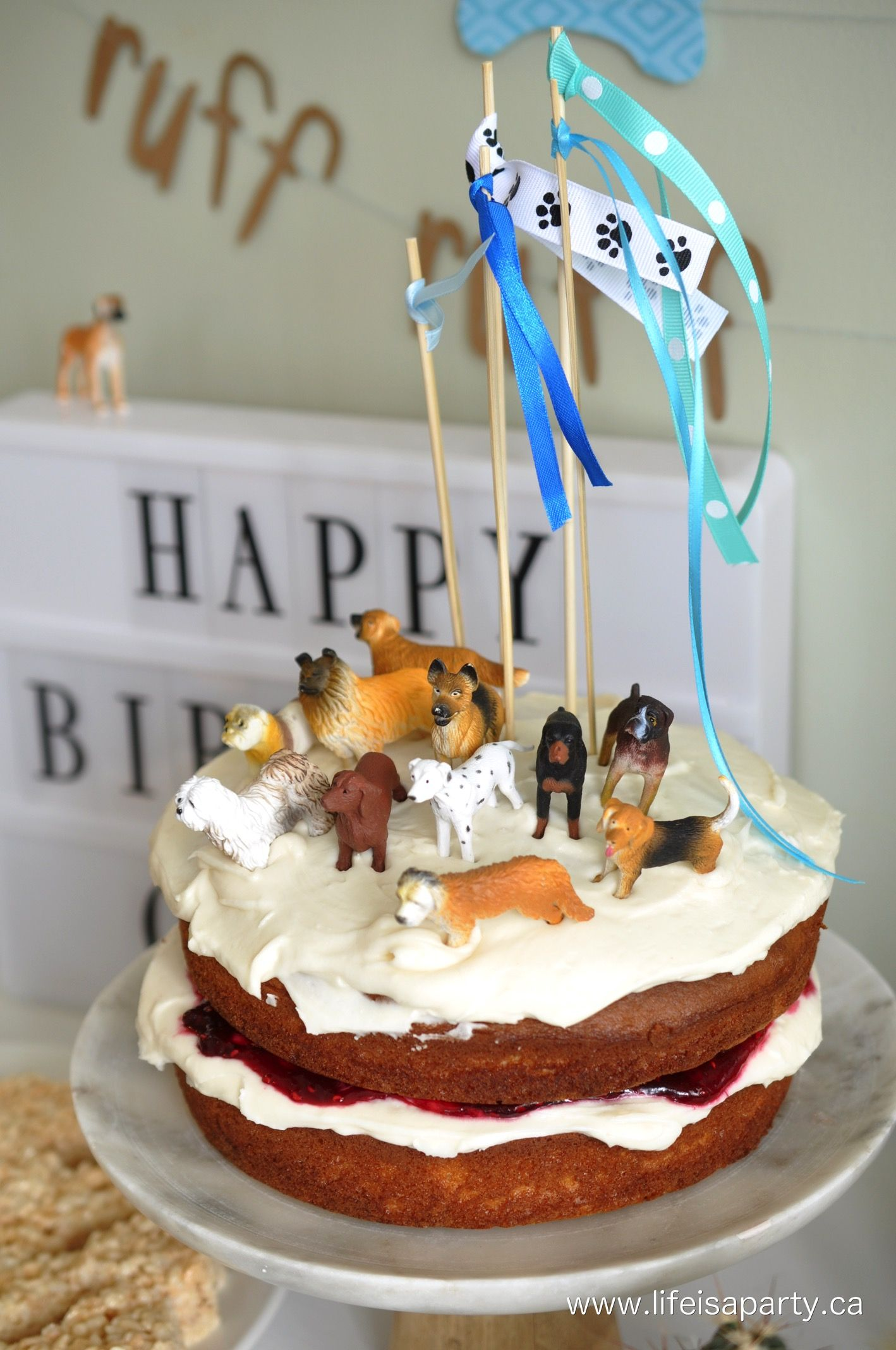 Astonishing Puppy Dog Birthday Party With Images Dog Birthday Party Puppy Funny Birthday Cards Online Drosicarndamsfinfo