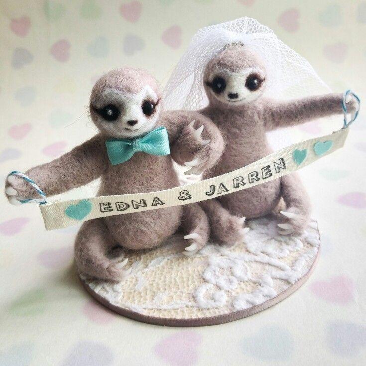 Sloth Cake Topper In Custom Tiffany Blue By Mythillogical
