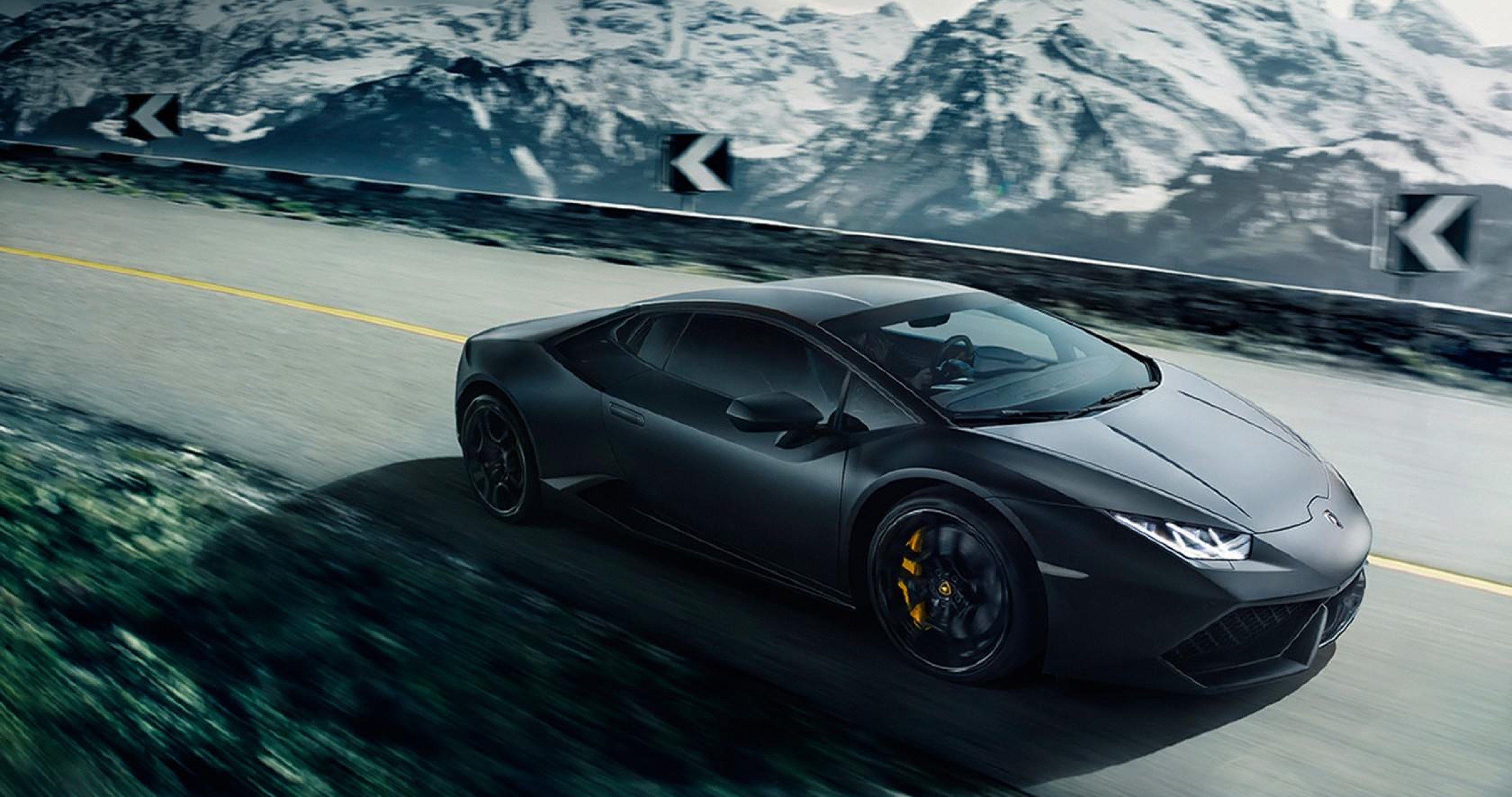 Black Lamborghini Huracan Lp640 4 4k Ultra Hd Wallpaper