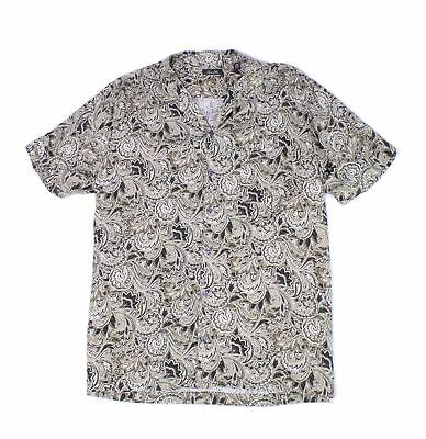 Tasso Elba Mens Shirt Brown Size 2XL Paisley Print Button Down Silk $65 #003 #fashion #clothing #shoes #accessories #men #mensclothing (ebay link)