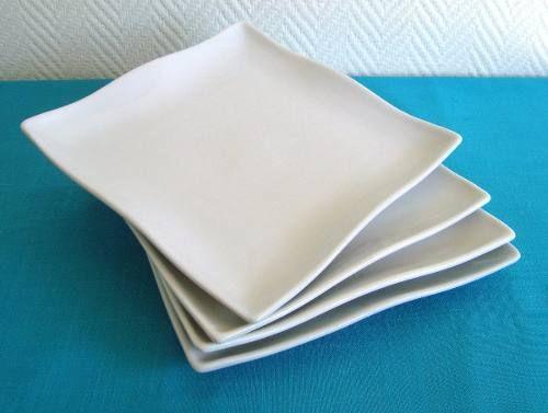Vajilla plato cuadrado de porcelana blanco vajilla - Vajilla de porcelana ...
