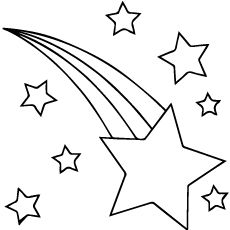 coloring pages shooting star - photo#6