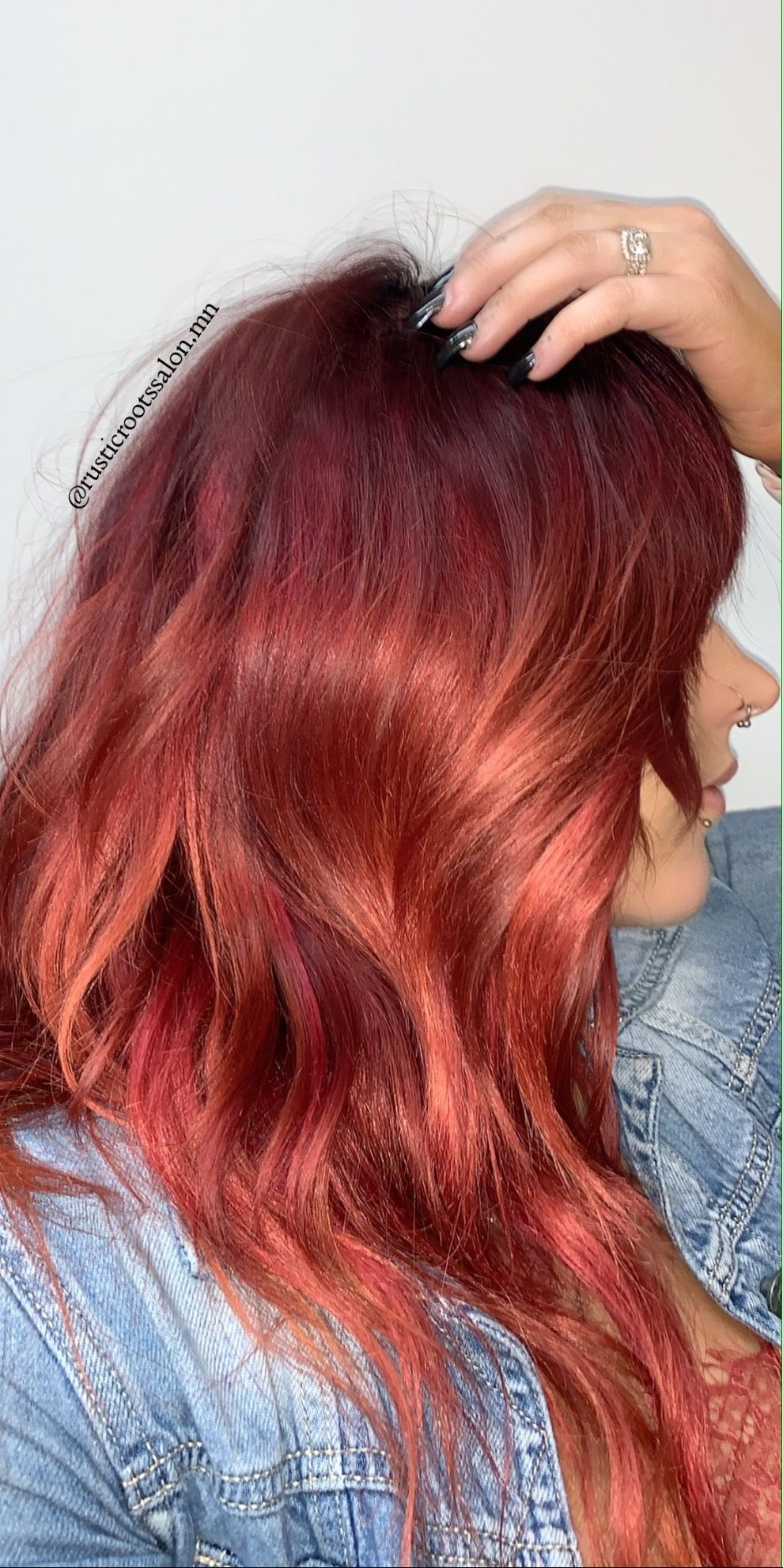 Vibrant Red Color Melt In 2020 Hair Long Hair Styles Color Melting