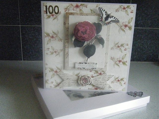 Birthday Card And Box For A 100 Year Old Lady