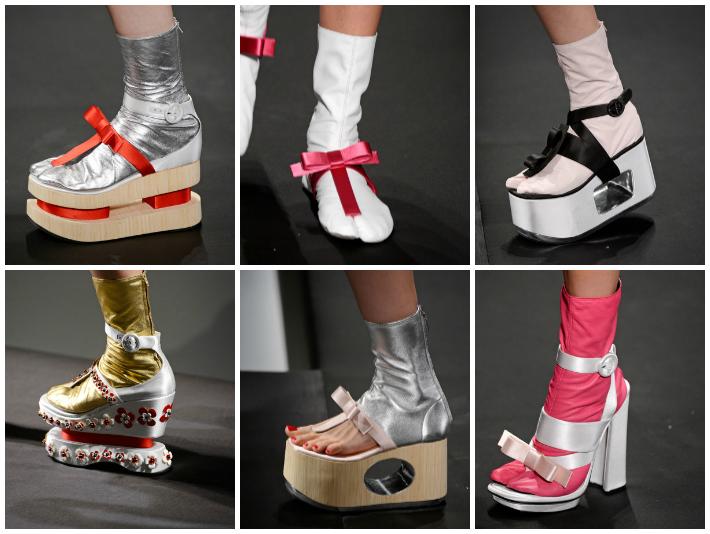 online store f23c3 8e6cb Una fusión principalmente entre los tabi (calcetines tradicionalmente  japoneses que utilizaban indistintamente hombres y mujeres con los zapatos  ...