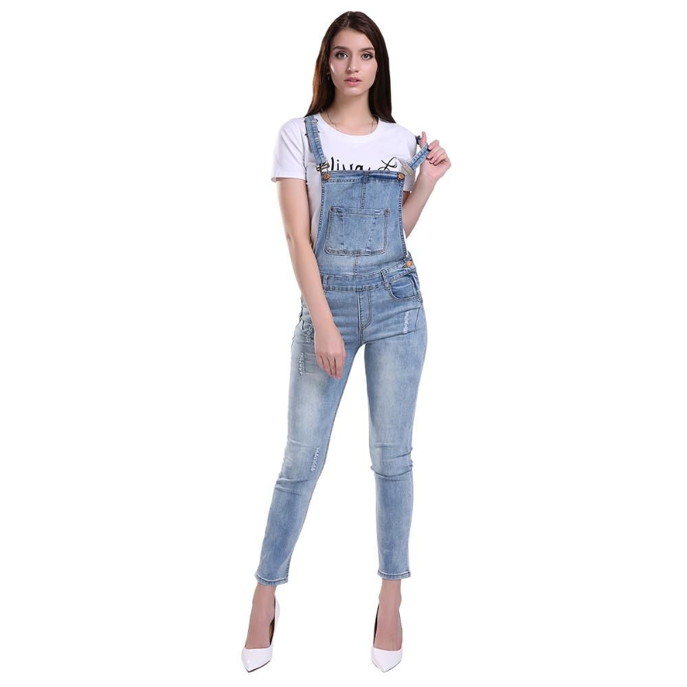 a15d40f586b6 Women s Classic Retro Ripped and Washed Denim Jumpsuits  Comfortable S –  Creamtoe Boutique and Rack