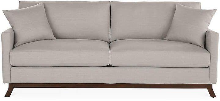Edwards Sofa Gray Linen Miles Talbott Sofa Gray Sofa Linen