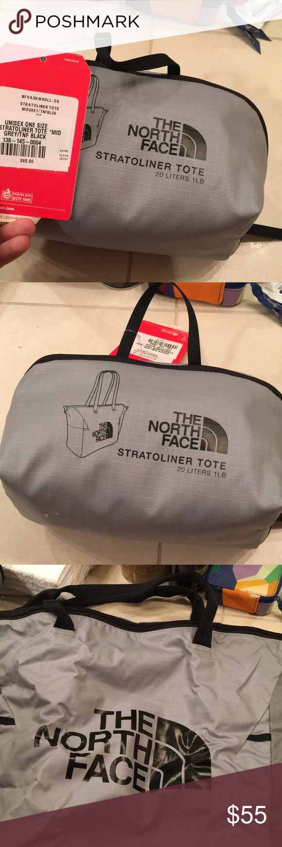 8442aa71b The North Face Stratoliner Tote bag Grey The North Face brand new never  used tote bag. Holds 20 Liters really nice. The North Face Bags Totes