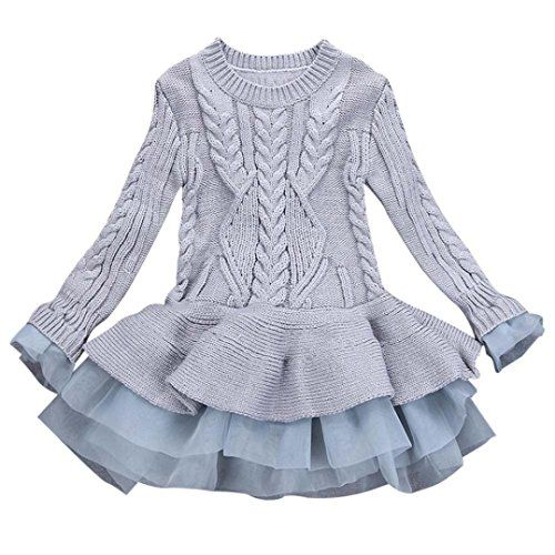 229c9b36d12 Knitted Sweater Dress Pullovers Sweaters With Lace Shrugs Dresses Crochet  Tutu Long Girls Sweater Baby Girl Sweater