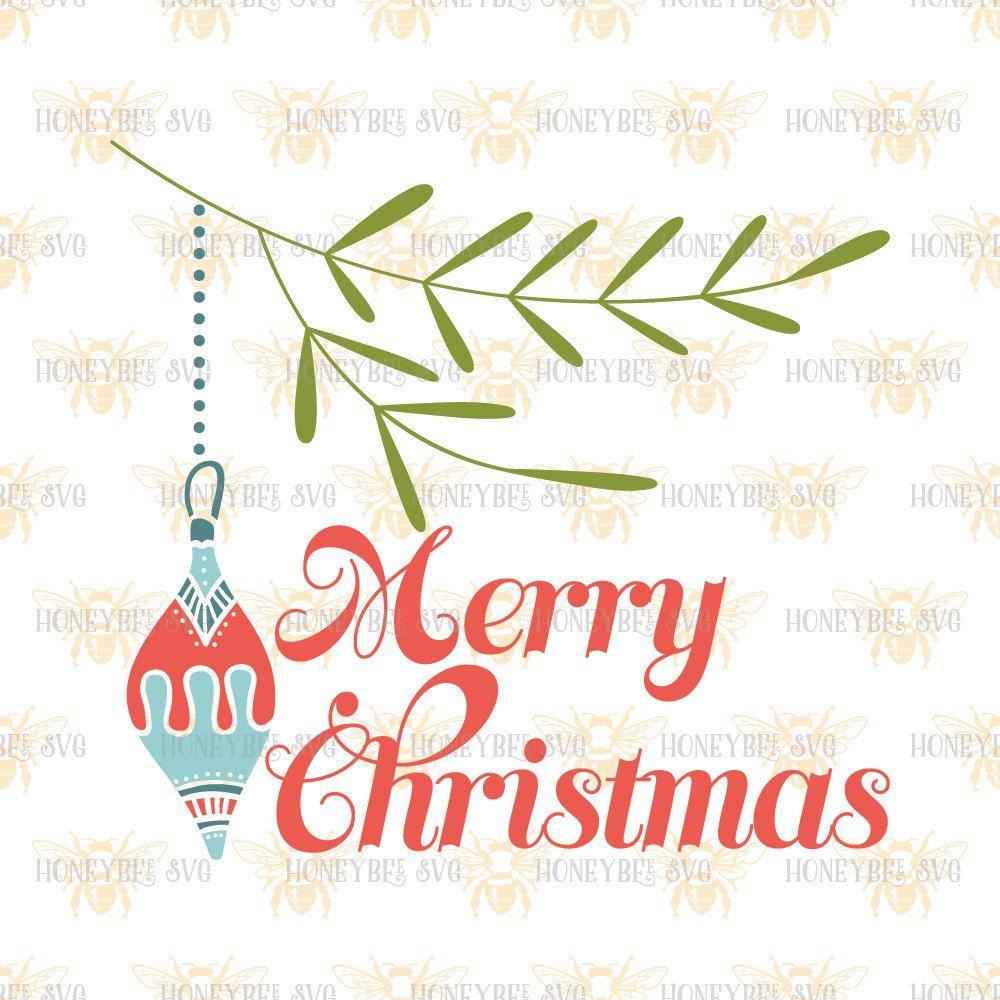Merry Christmas Ornament svg Christmas decor svg Christmas