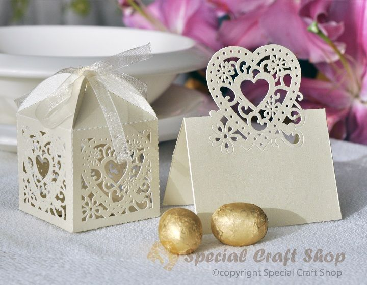Name Place Card and matching Bonbonniere Box - laser cut ...
