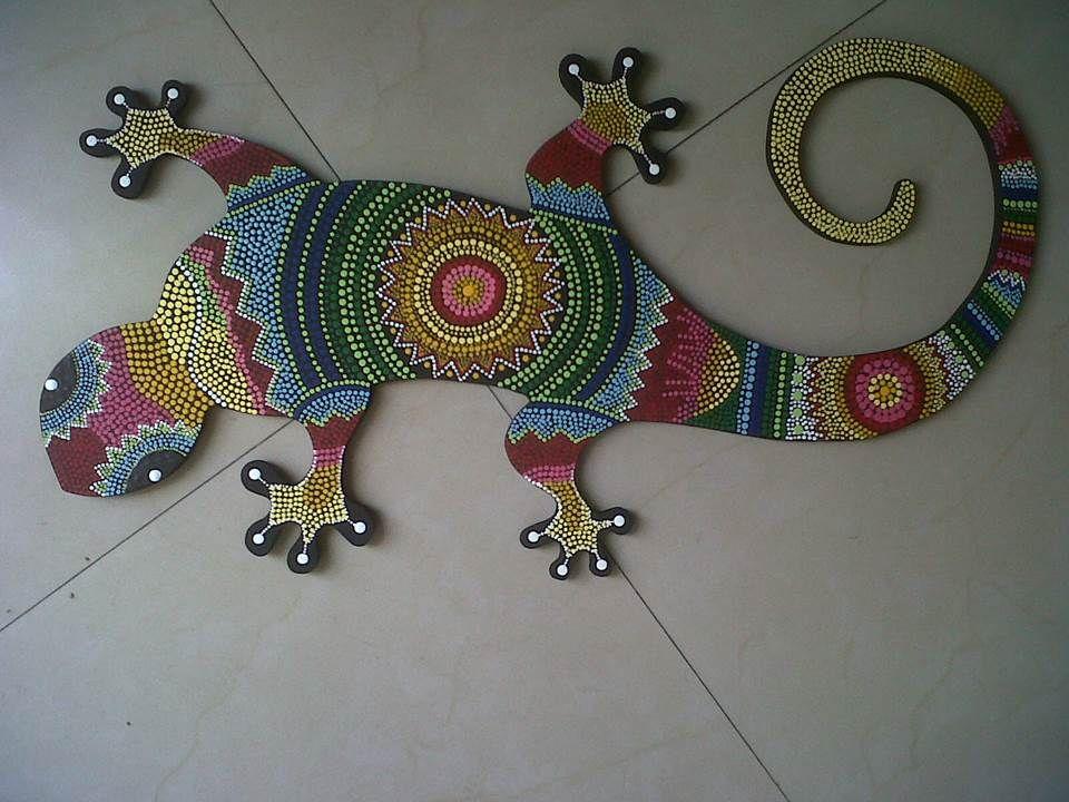 Salamandra Pintada En Puntillismo Salamander Painted In Pointillist Puntillismo Pintura De Puntos Y Pinturas