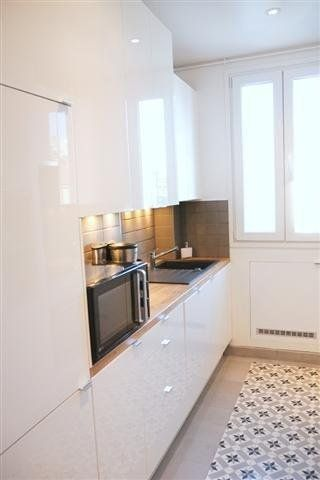 Un tapis dans la cuisine   Idee amenagement cuisine, Cuisines design et Carrelage cuisine
