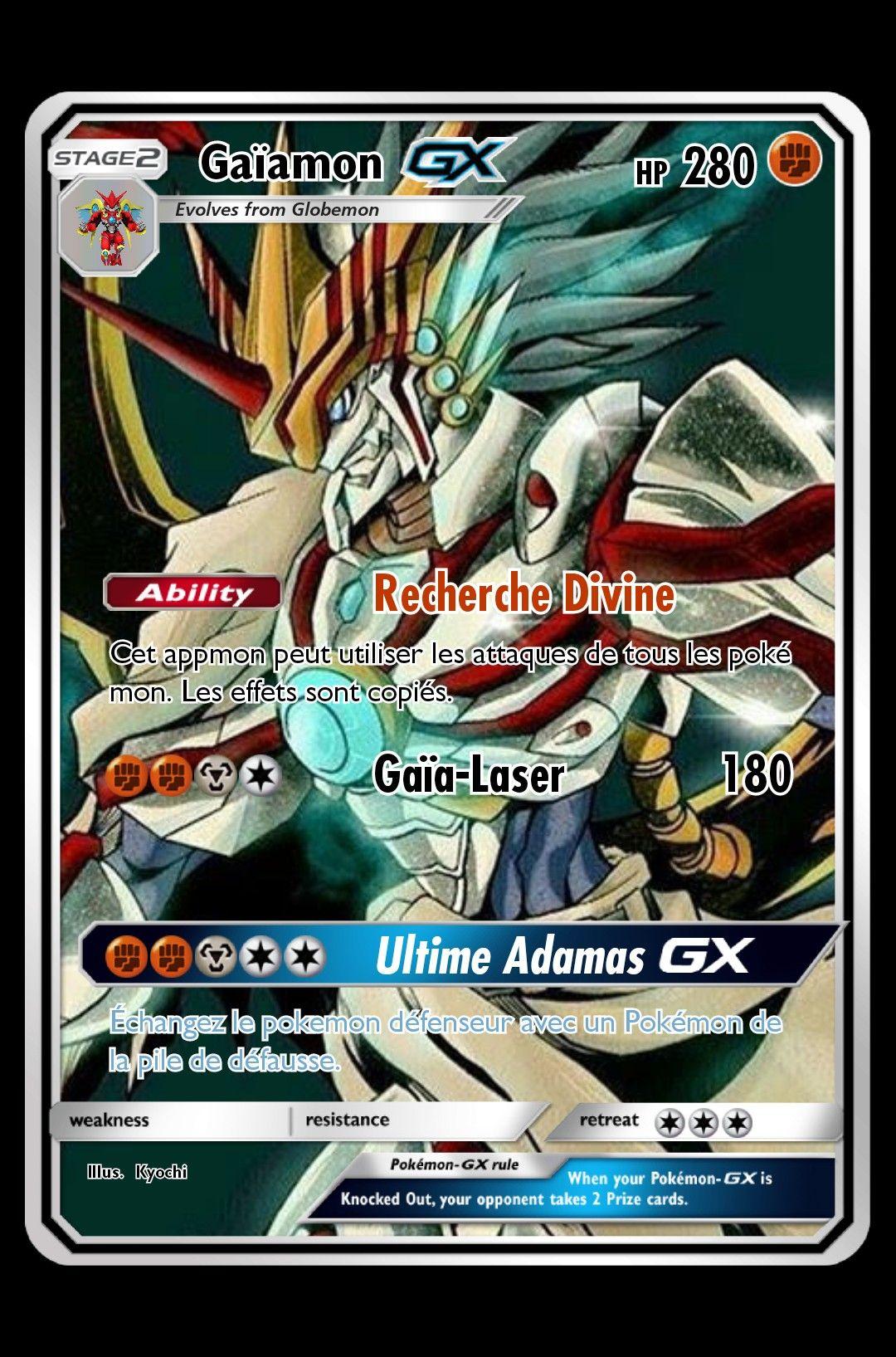 photo de carte pokemon gx Digimon appmon gaïamon carte pokémon gx | Fake pokemon cards