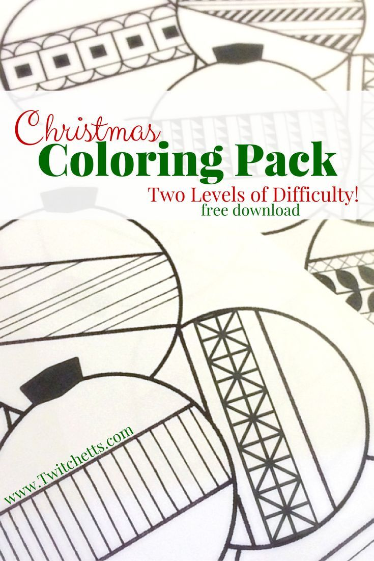 Get Your Free Christmas Coloring Pack This Printable Download Includes A Kids Page And An More Detailed Adult