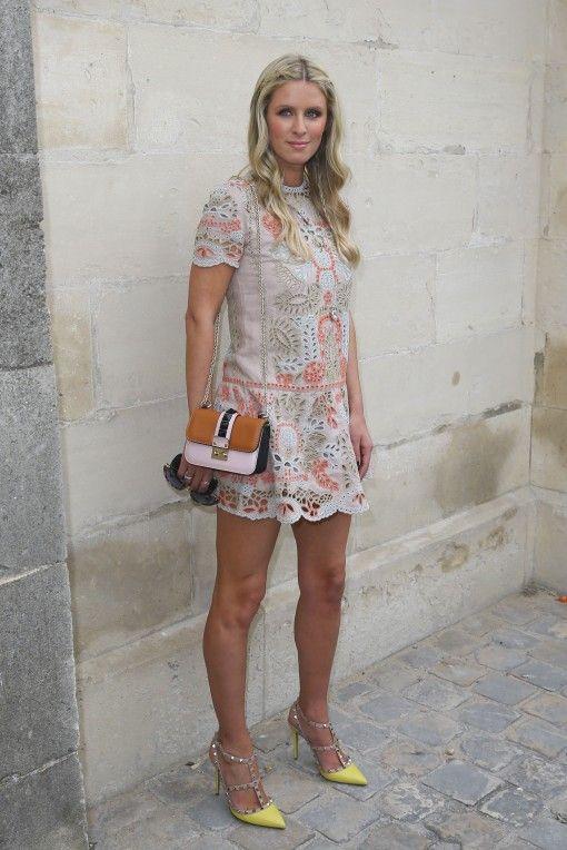 79500da95cd celeb celebrity wearing Valentino rockstud studded spiked heels sandals  pumps caged