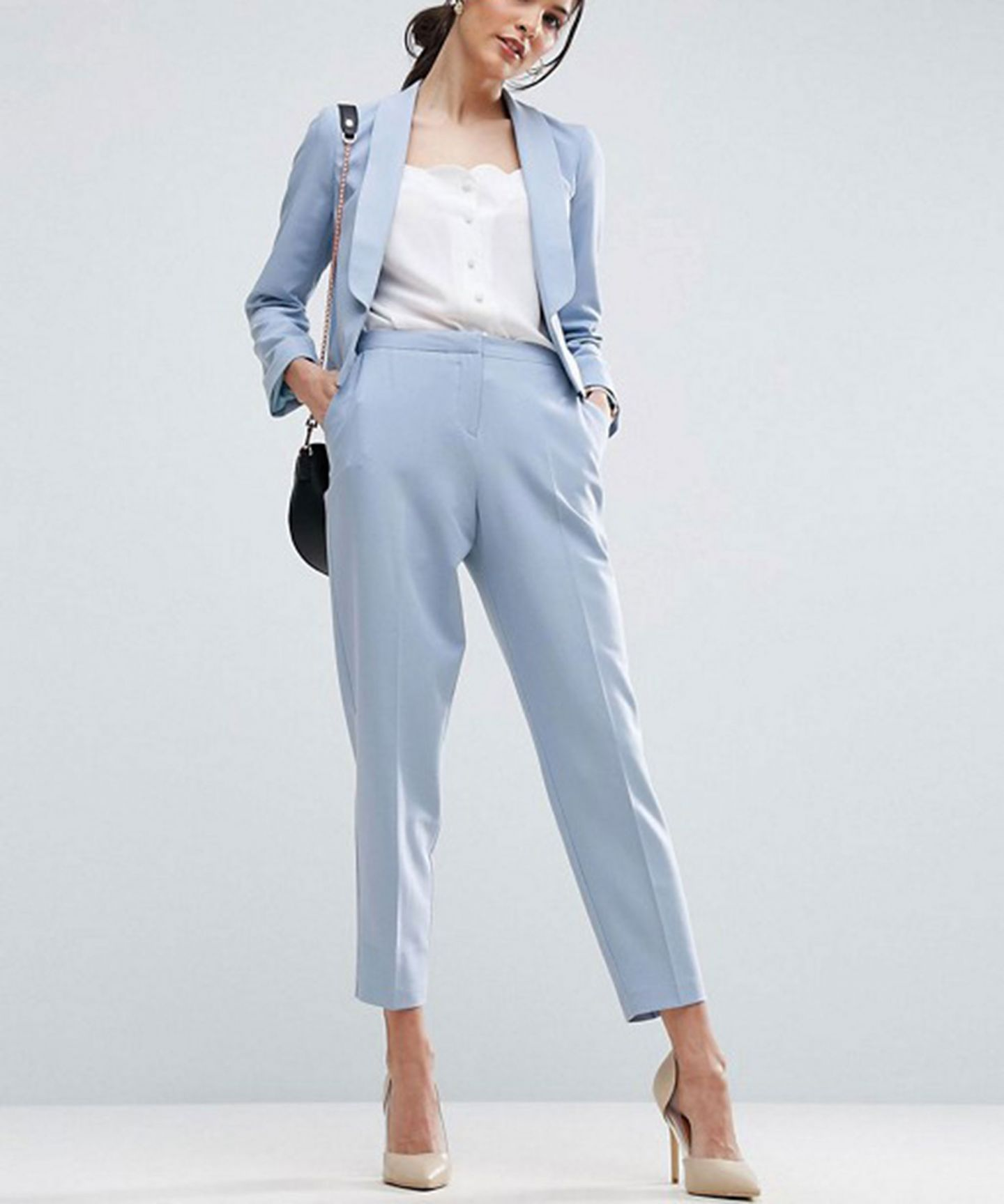 Back To Search Resultswomen's Clothing Intelligent Custom Made Light Sky Blue 7 Points Pants 2 Piece Set Women Elegant Pant Suits Female Office Uniform Formal Ladies Business Work