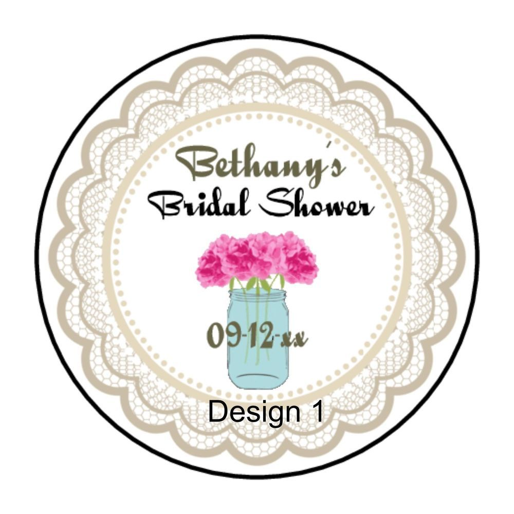Rustic Wedding Favor Bridal Shower Round Labels Stickers | Rustic ...