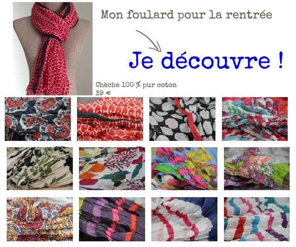 9317fdb83ba Foulard et écharpes les tendances à la mode pour la rentrée ...