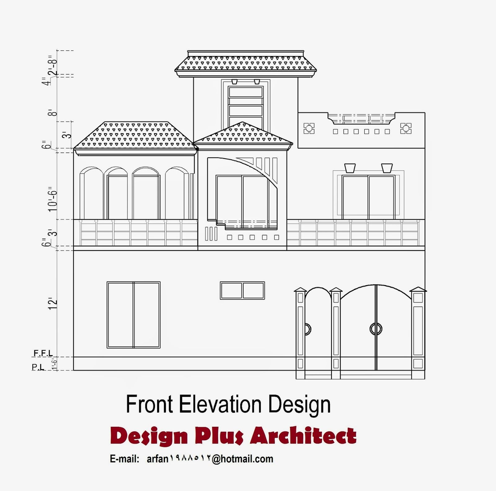 Front Elevation Autocad 2d : Home plans in pakistan d plan house