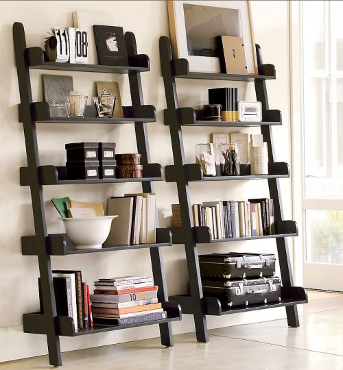 What To Put On My Ladder Shelf Home Interiors Ladder Bookshelf