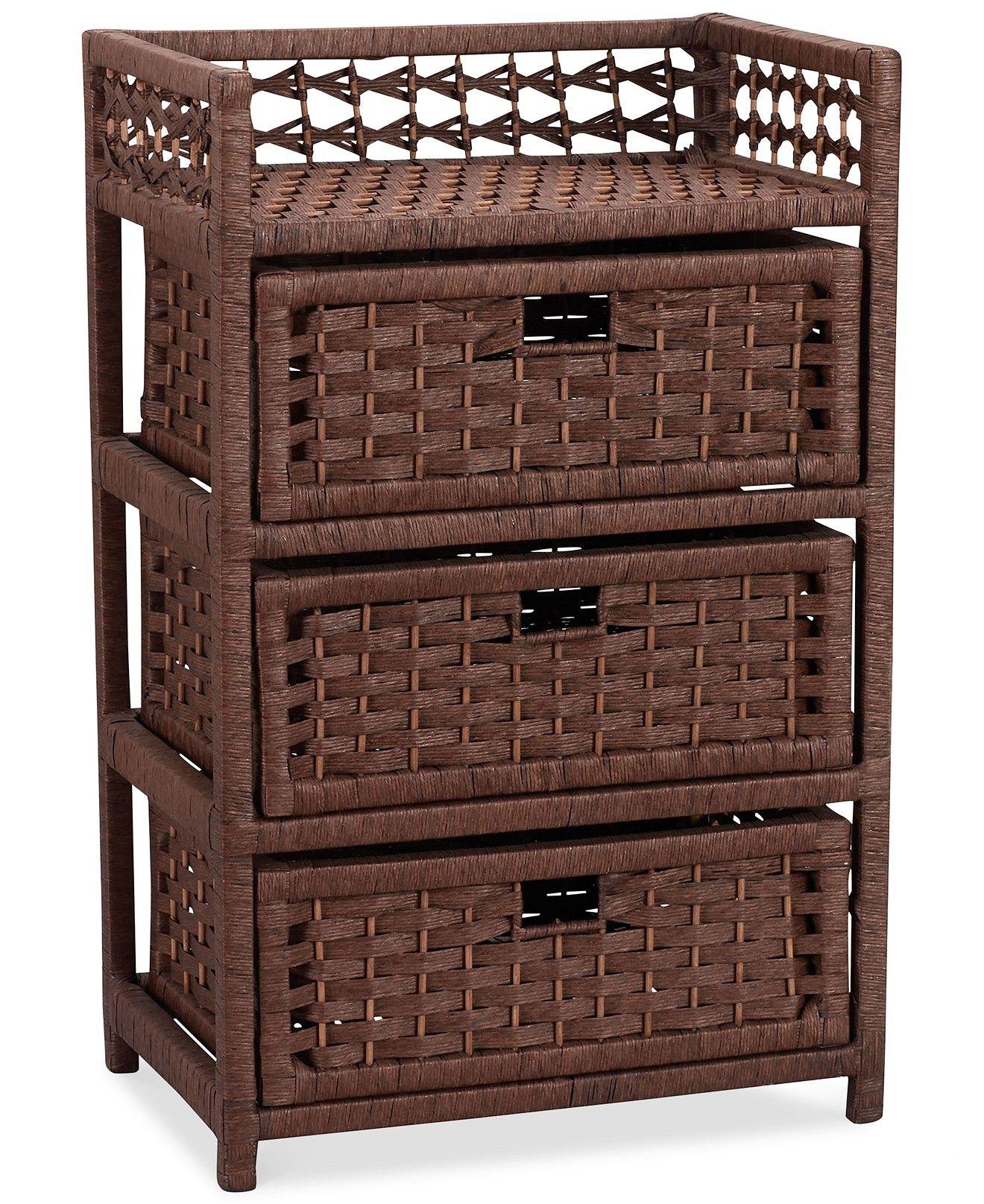 Best Storage Chest 3 Drawer Paper Rope Wicker Furniture 640 x 480