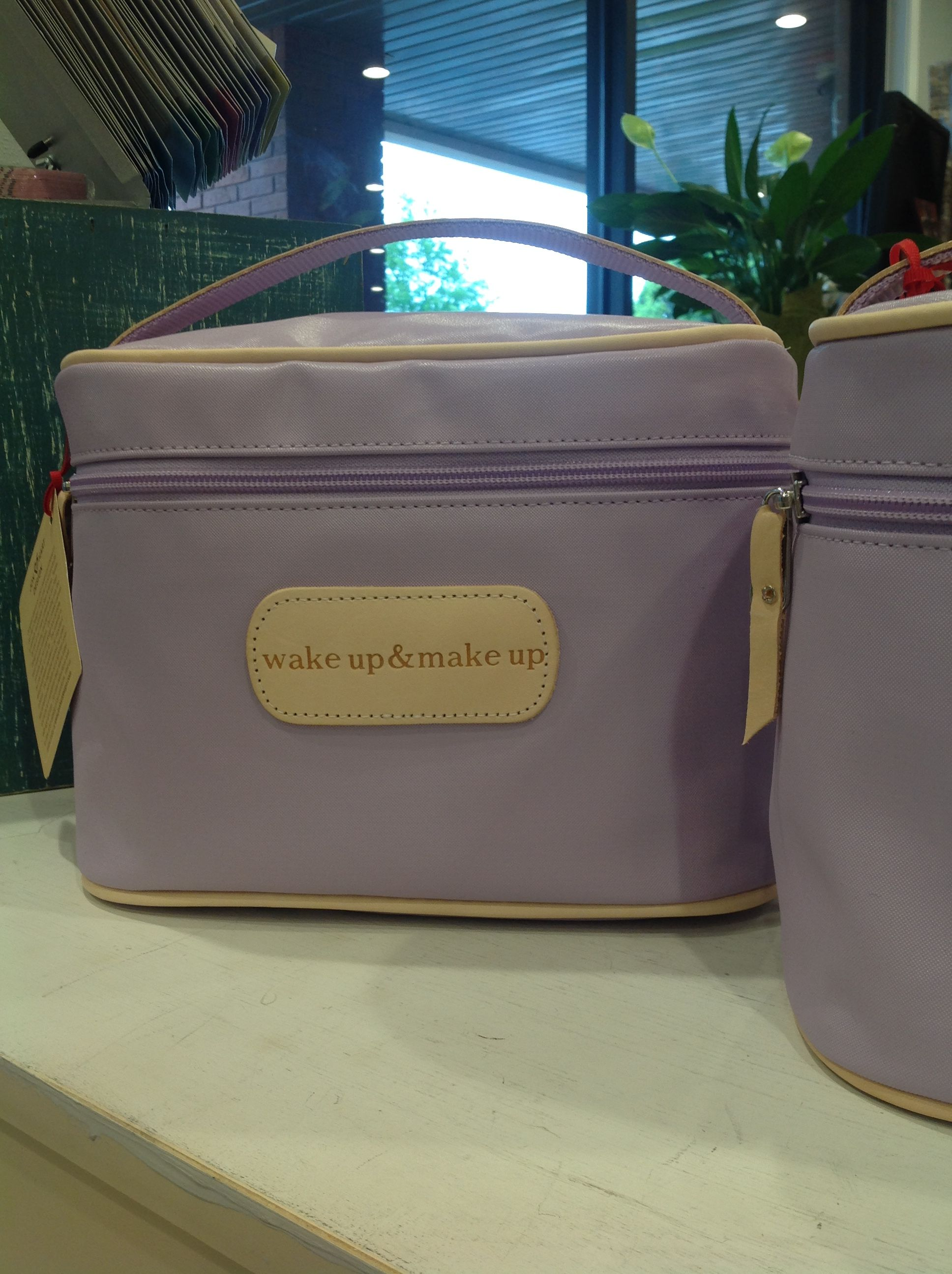 Lilac makeup case by Jon Hart Designs Travel bags