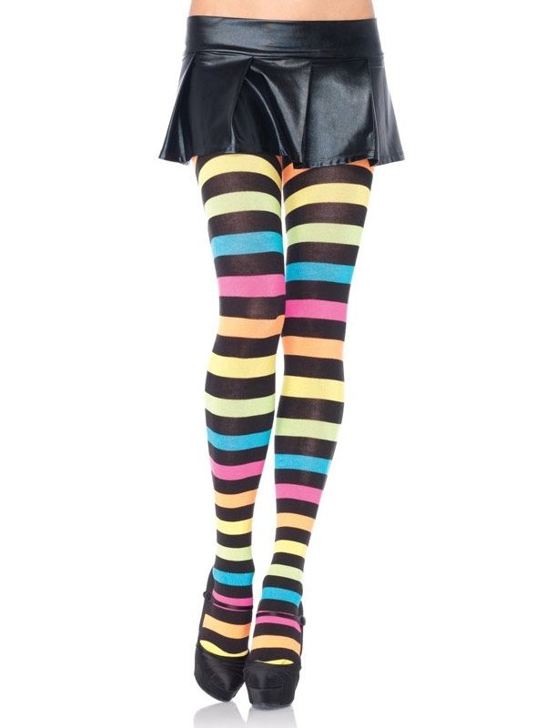 How to horizontal wear striped tights photos