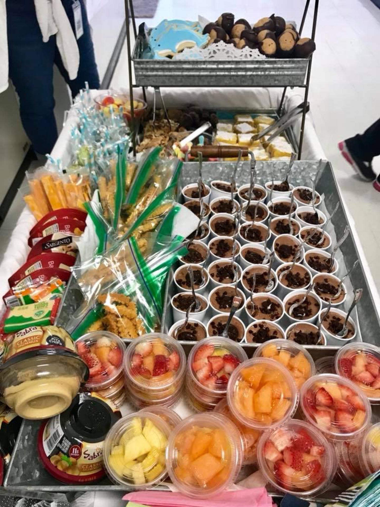 Snack Cart For Teacher Appreciation Week