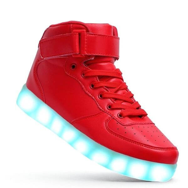 Light Up Shoes Kids Boys Girls Red