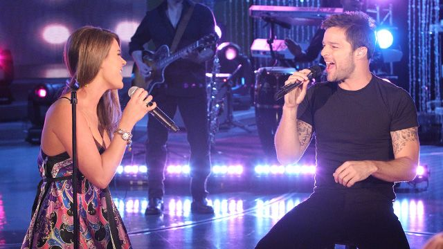 Ricky Martin And Joss Stone Sing The Best Thing About Me Is You