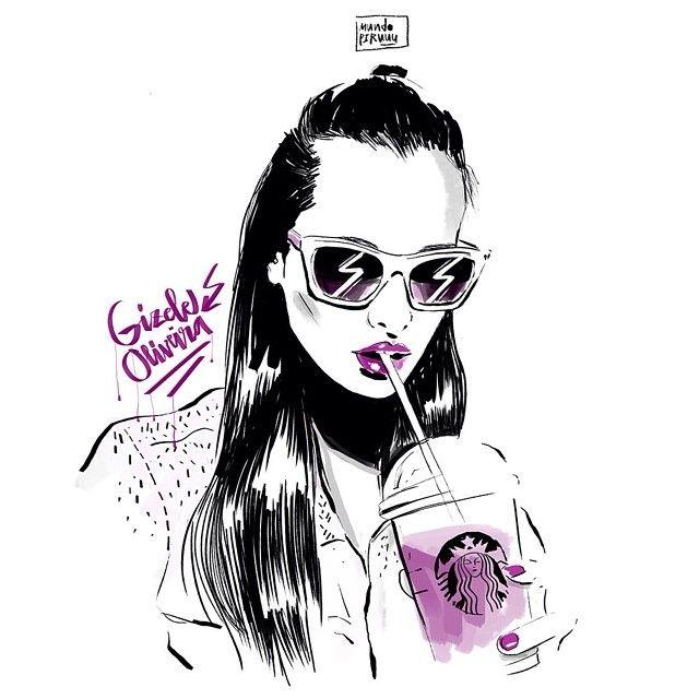No pude evitar dibujar a la molona @giizeleoliveira #gizeleoliveira…