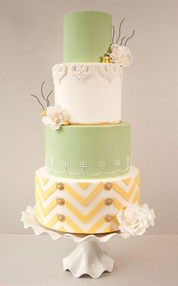 Cake Central Magazine Wedding Cake   CAKES-Yellow/Gold   Pinterest ...