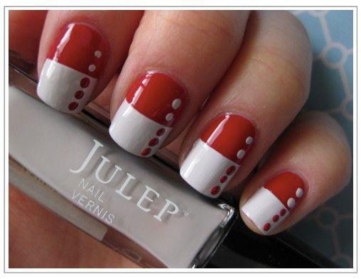 polka dot red and white nails - Polka Dot Red And White Nails Health & Beauty Pinterest White