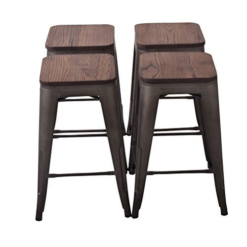 26 High Backless Metal Bar Stool For Indoor Outdoor Kitchen
