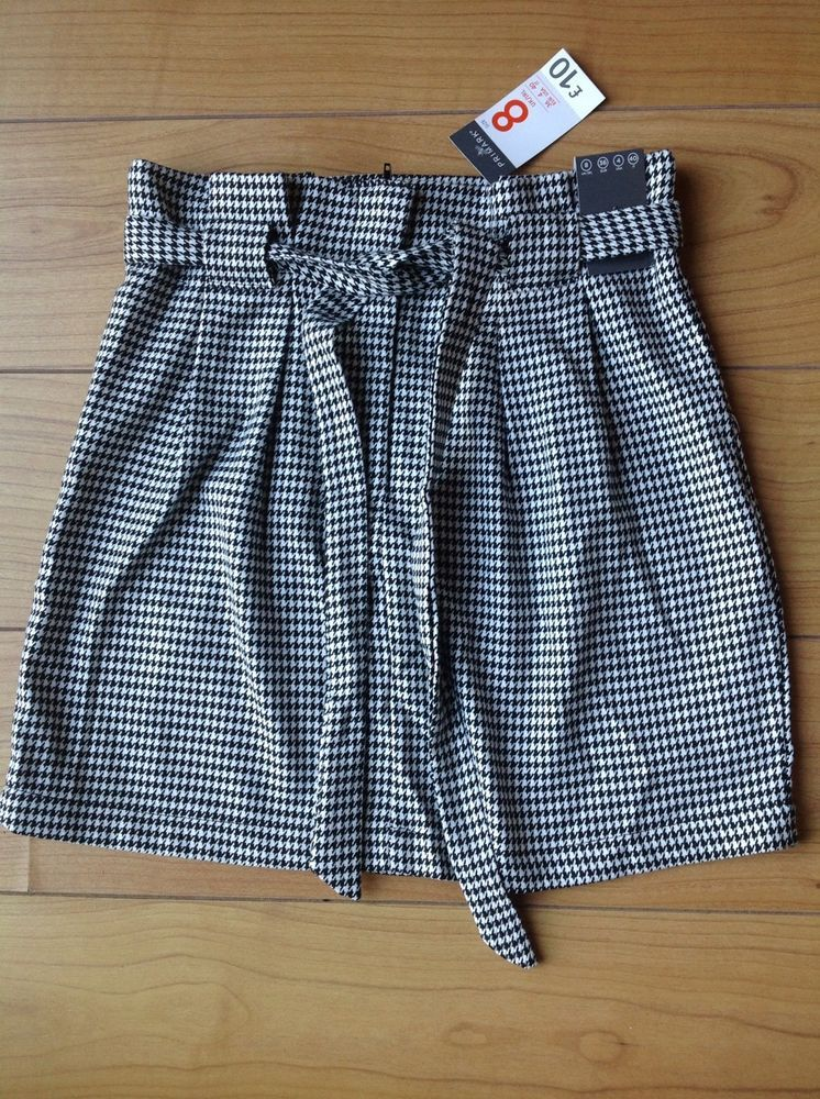 35ac798878 PRIMARK Black & White Dog Tooth Check Skirt UK Size 8 Euro 36 NEW WITH TAG  #fashion #clothing #shoes #accessories #womensclothing #skirts (ebay link)