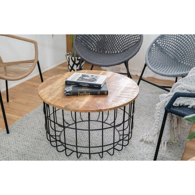 Kareem Coffee Table in 2020 Table, Round coffee table