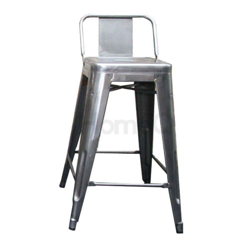 Set of 4 - Tolix Bar Stool - 65cm - Medium Backrest - Xavier Pauchard -