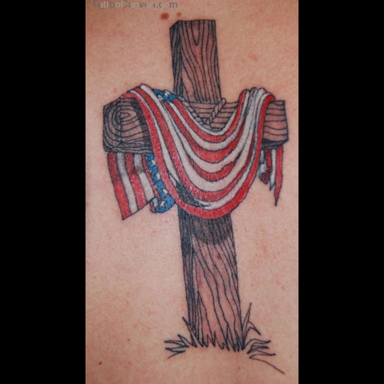 cross and american flag ideas