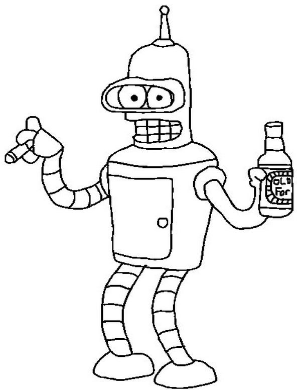 coloring pages of futurama - photo#36