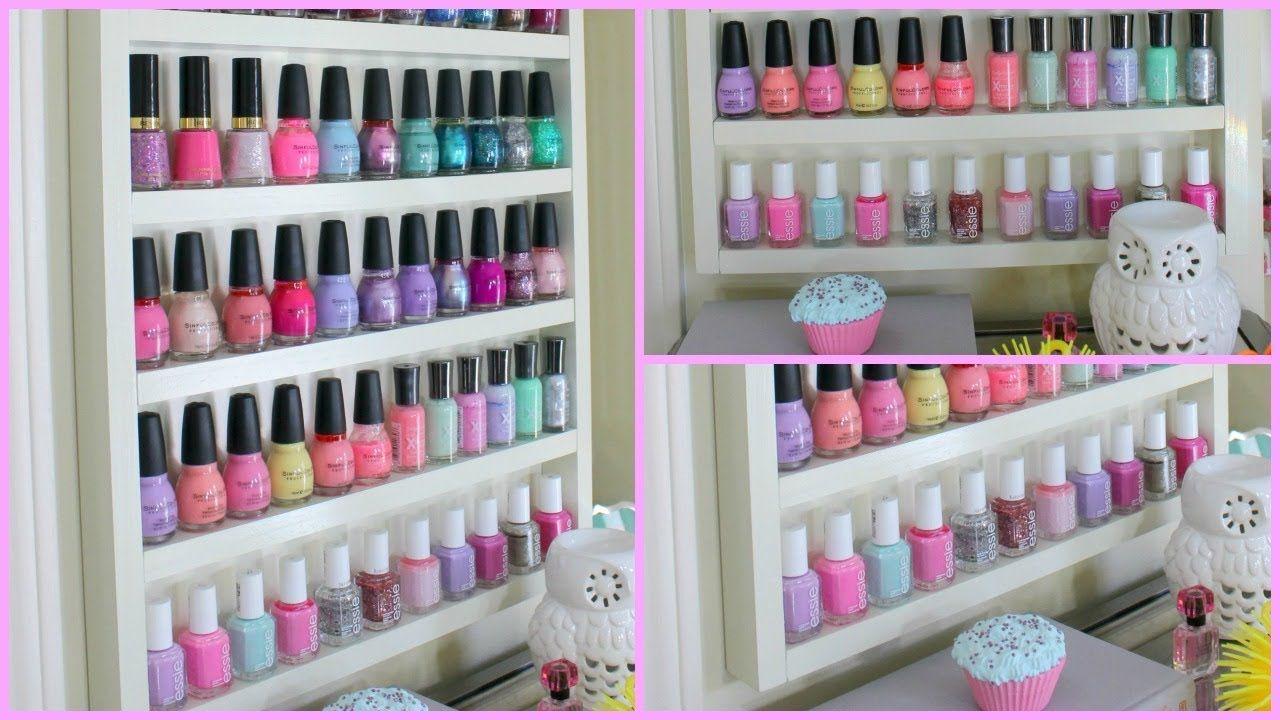 Diy wood nail polish rack materials used 3 1 x 2 x 8 diy wood nail polish rack materials used 3 1 x 2 x solutioingenieria Image collections