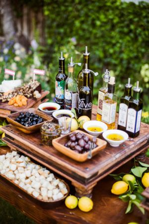 Food Bar Ideas For Weddings Olive Oil And Bread There S Like 15 Other Neat Here Too