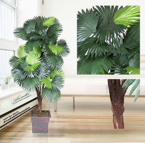 One 6' Fan Palm Artificial Tree with 5 Heads, with No Pot, Arcadia Silk Plantation http://www.amazon.com/dp/B00119SOYI/ref=cm_sw_r_pi_dp_fLVLtb0XMABK9VWJ